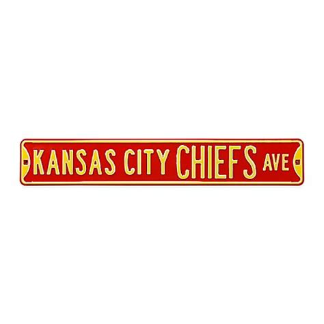 bed bath and beyond kansas city nfl kansas city chiefs steel street sign bed bath beyond