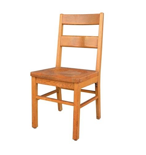 Library Chair by Solid Oak Library Chair By Milton Bradley Rejuvenation