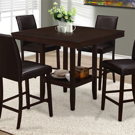 Dining And Kitchen Tables Monarch Specialties I 1900 Square Counter Height Dining
