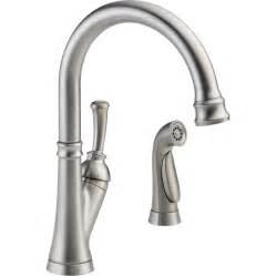 lowes delta kitchen faucets shop delta savile stainless 1 handle deck mount high arc