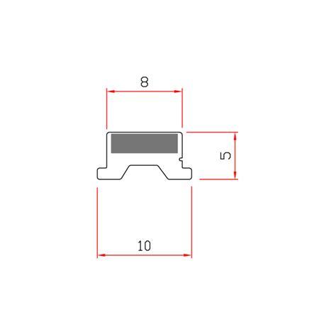 guarnizioni doccia gomma guarnizione magnetica box doccia in gomma ec mag 01f