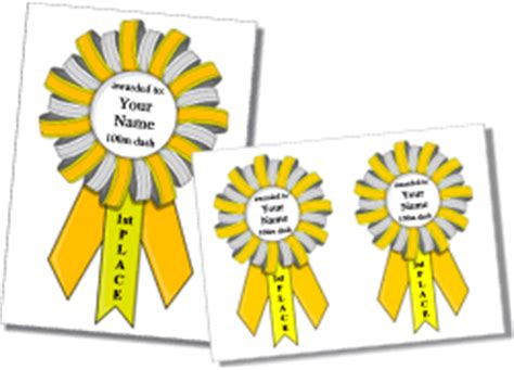 printable paper medals printable award ribbon templates