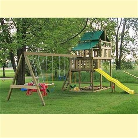 backyard playset kits how to build free swing set plans do it yourself pdf plans