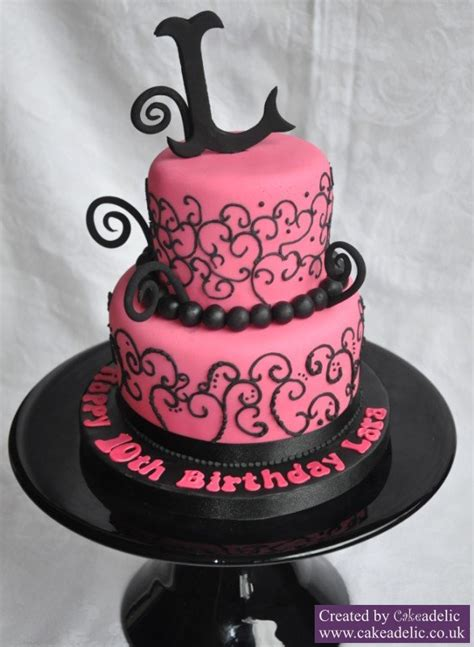 black and pink birthday cake pink and black birthday cake birthday cakes