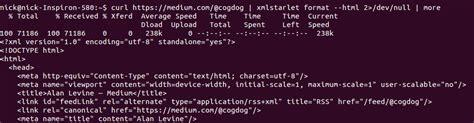 xmlstarlet format html it takes a village to read an rss feed medium engineering