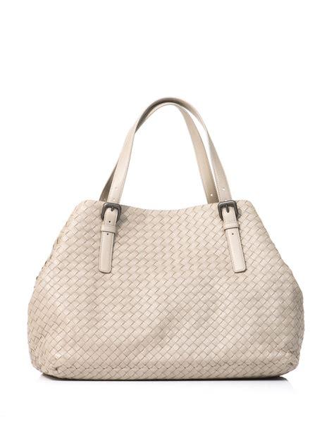 Bottega Veneta Woven Briefcase by Bottega Veneta Intrecciato Woven Leather Tote Bag In Gray