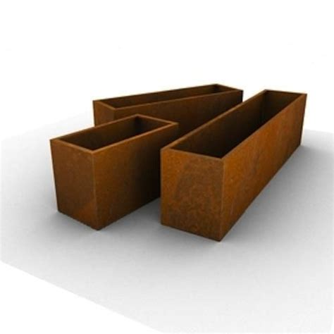 Corten Planter Box by Corten Steel Rusted Window Box Planters Gardens Get