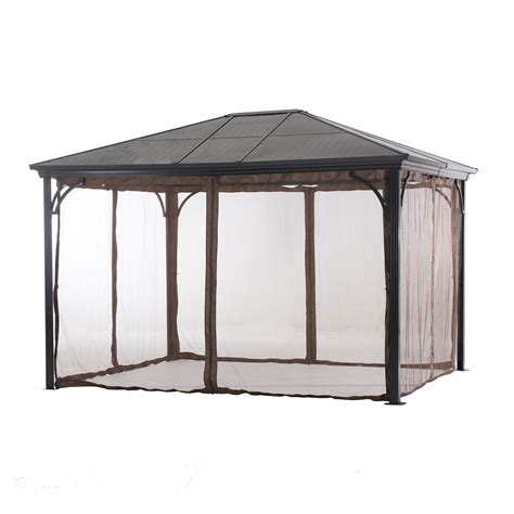 gazebo netting essential garden poly carbonate 10x12 hardtop gazebo with