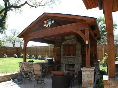 fireplace with enchanting outdoor patio cover