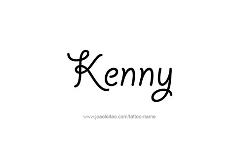 kennys tattoo kenny name designs