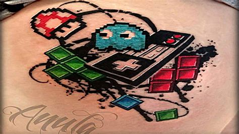 5 amazing retro video game tattoos