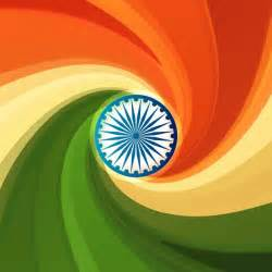 indian flag colors background with swirl on indian flag colors vector free