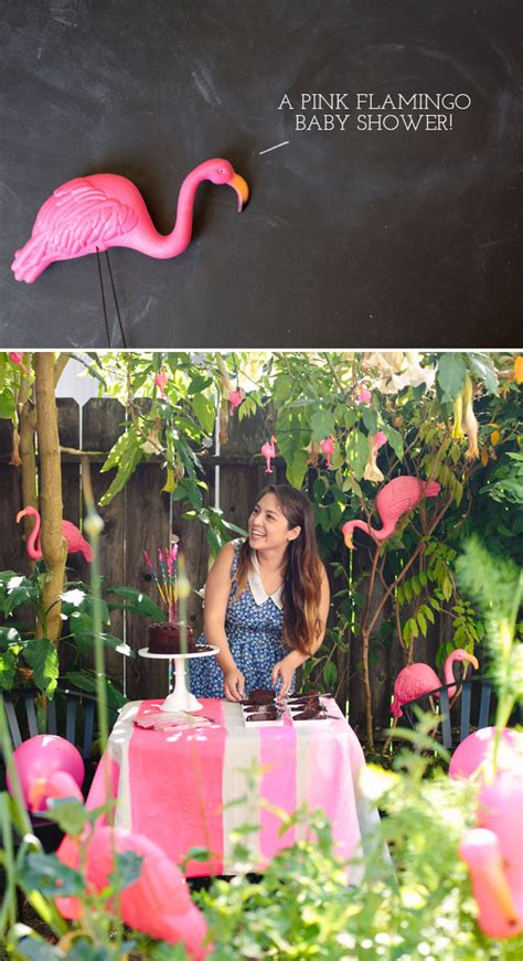 pink flamingo baby shower