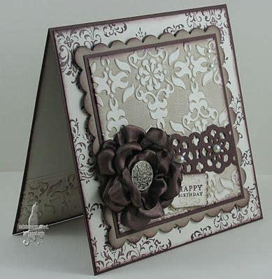 How To Make A Beautiful Handmade Folder - handmade card vintage look handmade ribbon