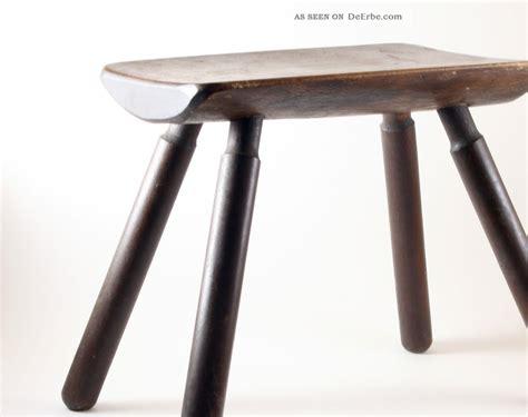 Schemel Antik by Massivholz Hocker Unikat 20er 30er Design Schemel