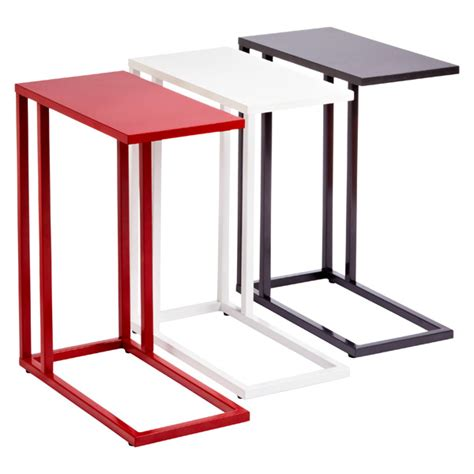 under couch tv tray red c table the container store