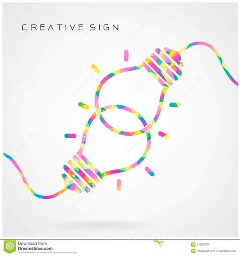 design an idea creative light bulb idea concept background design for