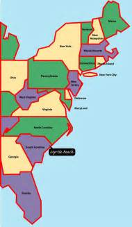 east coast map myrtle is situated on the east or
