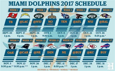 printable nfl bye week schedule 2015 17 best ideas about miami dolphins schedule on pinterest