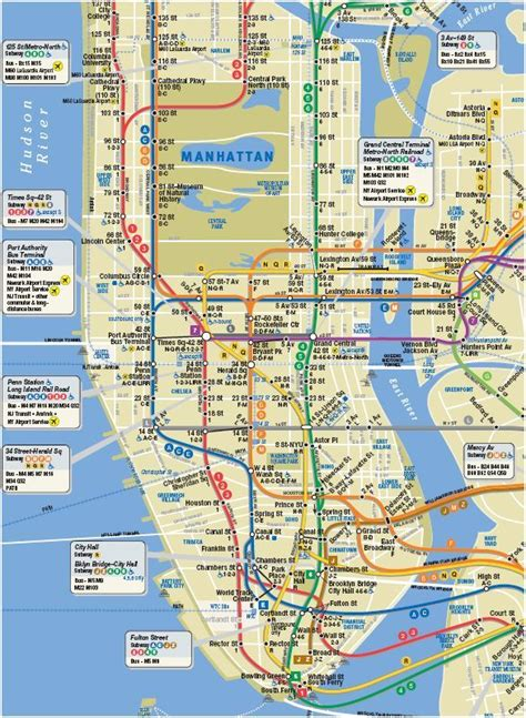 subway map of manhattan with streets interactive tour walking maps of manhattan