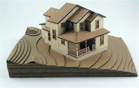 modern style house wooden model kit ho 3d wood miniature epilog laser application sle gallery