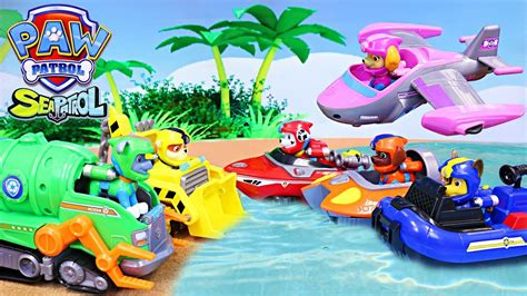 paw patrol boat rescue paw patrol transform to sea patrol pups and rescue ryder