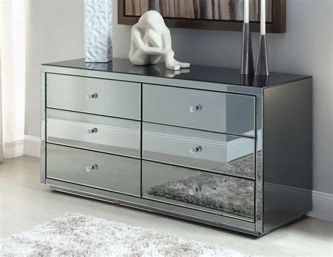 mirrored furniture vegas smoke mirrored dressing table low chest 6 drawers mirror furniture