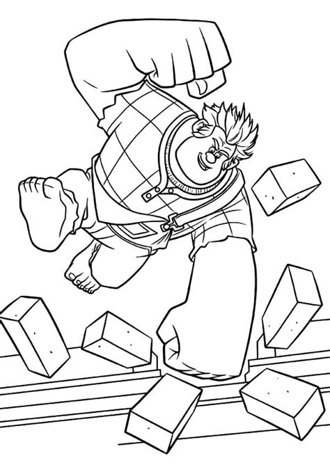 wreck it ralph coloring pages wreck it ralph smashing bricks coloring pages batch coloring
