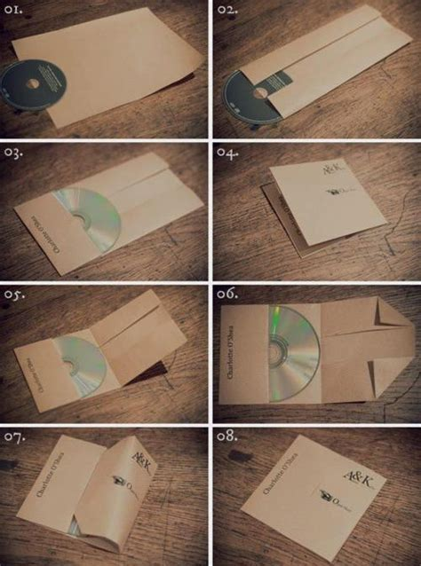 Fold Paper Cd - fold a cd out of paper easy craft