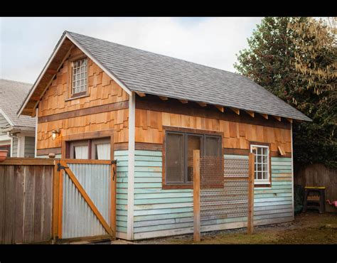 airbnb tiny house oregon a side view of the rustic modern tiny house in portland oregon inside airbnb s top micro