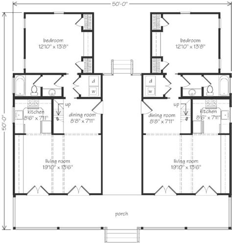 dogtrot floor plans love this it looks like a duplex but i d make one side