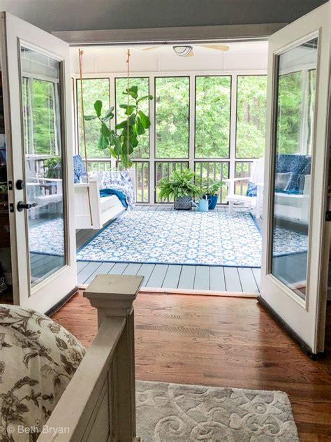 screened   porch  master bedroom creates