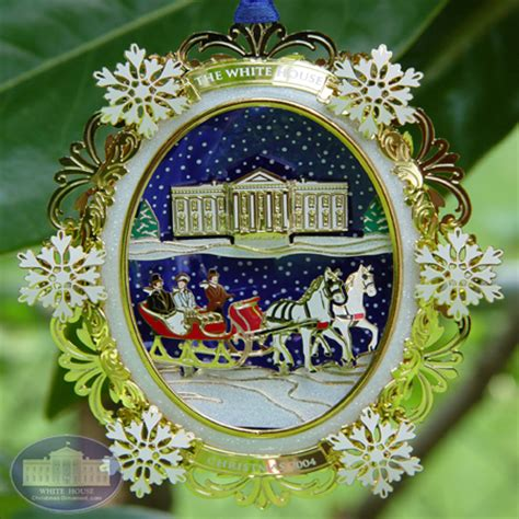 1980 white house christmas ornament 2004 the rutherford b ornament
