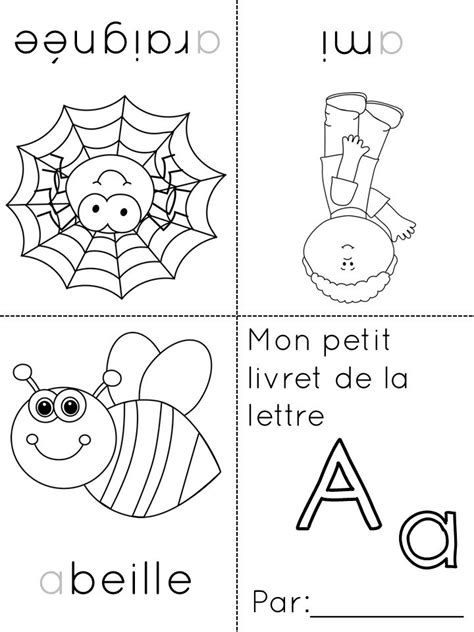 alphabet coloring pages in french 13 best images about french literacy on pinterest