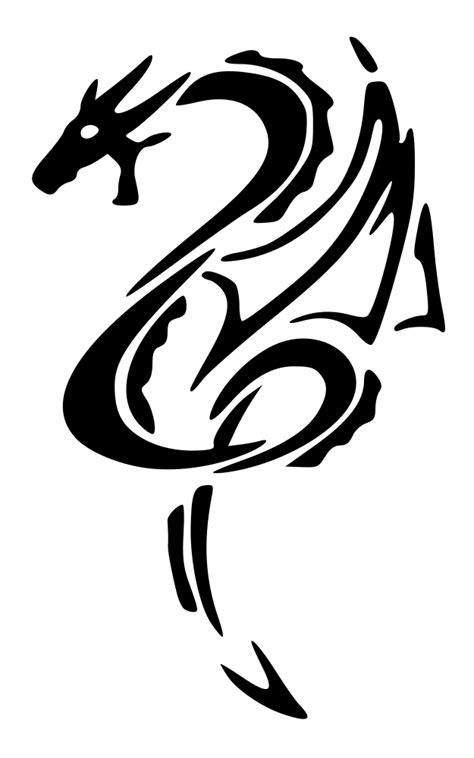OnlineLabels Clip Art - Black-Dragon-Left-Tattoo