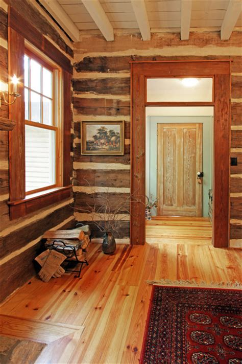 log home interior walls log cabin dining room