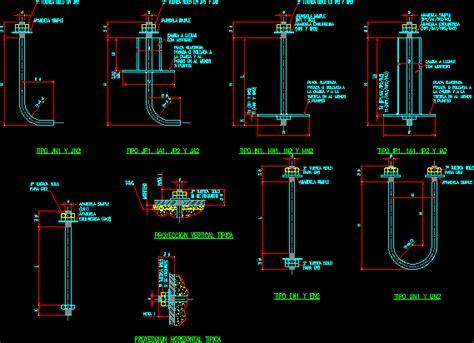 anchor bolt details dwg detail  autocad designs cad