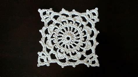 youtube doily pattern crochet square motif wheel mini doily pattern youtube