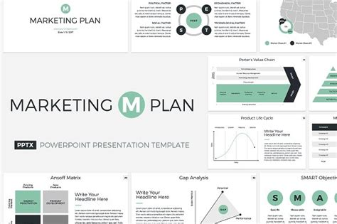 Marketing Plan Powerpoint Template Presentation Templates Creative Market Marketing Strategy Powerpoint Template