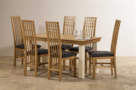 country cottage natural oak 5ft dining table cream painted country cottage natural oak and painted 5ft dining table