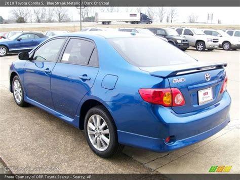 2010 Toyota Corolla S Blue 2010 Toyota Corolla S In Blue Streak Metallic Photo No