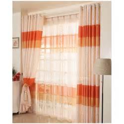 Orange color room darkening cute window curtain ideas modern curtain