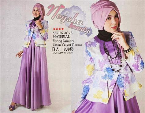 balimo neysha purple baju muslim gamis modern