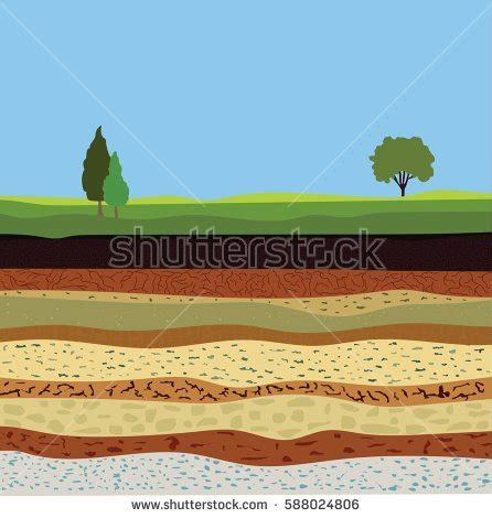 underground soil layers powerpoint template backgrounds soil formation soil horizons underground layers stock