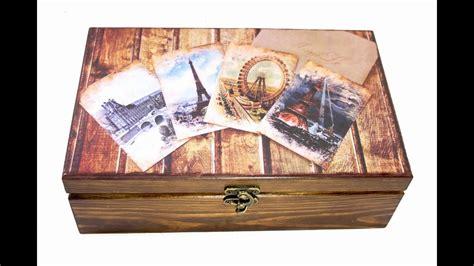 tutorial de decoupage en madera vintage wooden tea box making diy tutorial decoration