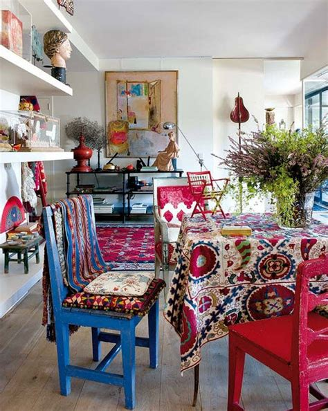 Bohemian Dining Room 187 Bold Color Bohemian Dining Room At In Seven Colors Colorful Designs Pictures And Magazines
