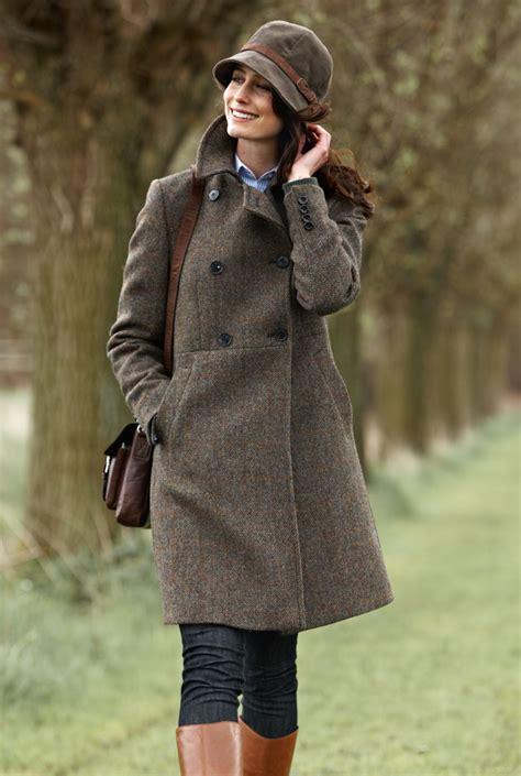 englischer garten jacken modisch femininer harris tweed mantel bestellen
