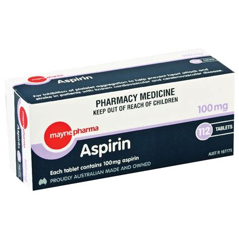 aspirin walmart buy mayne aspirin 100mg 112 tablets at chemist warehouse 174