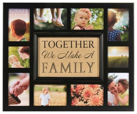 how to make a collage frame quot together we make a family quot collage frame modern mixed