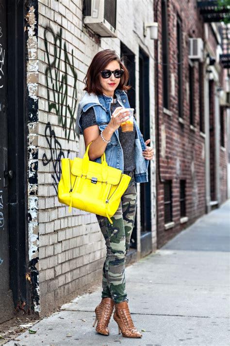 St 2pc Army Green Yellow 6 chic ways to wear camouflage glam radar